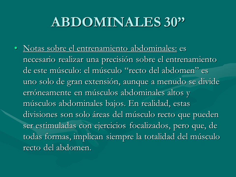 ABDOMINALES 30''