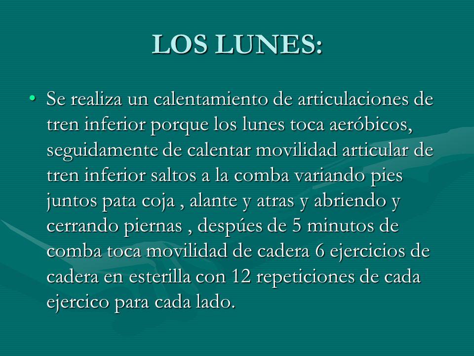 LOS LUNES:
