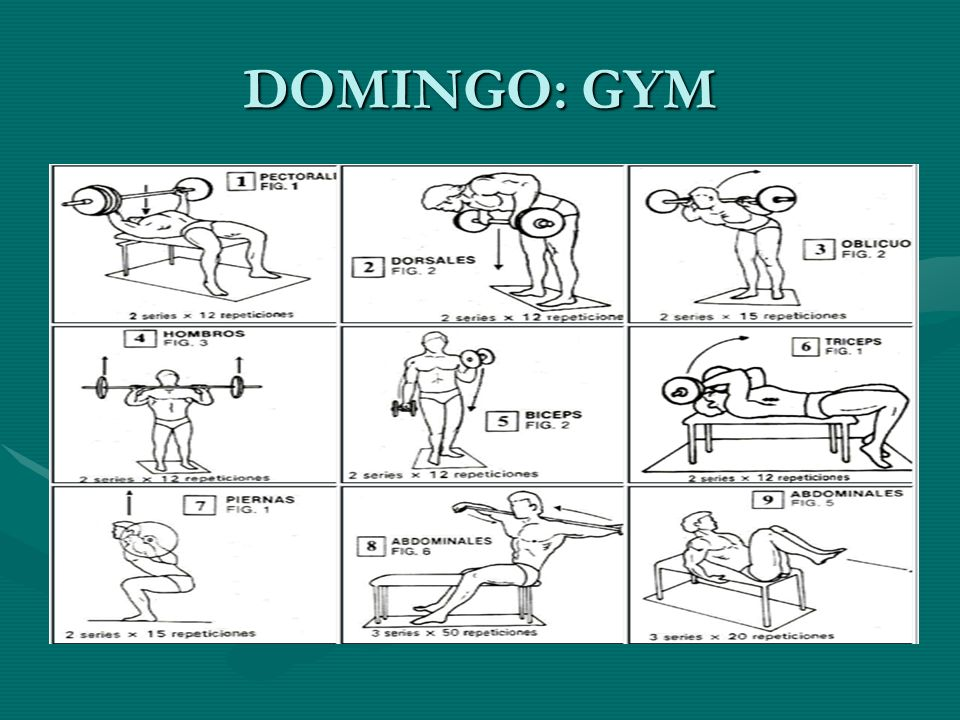 DOMINGO: GYM