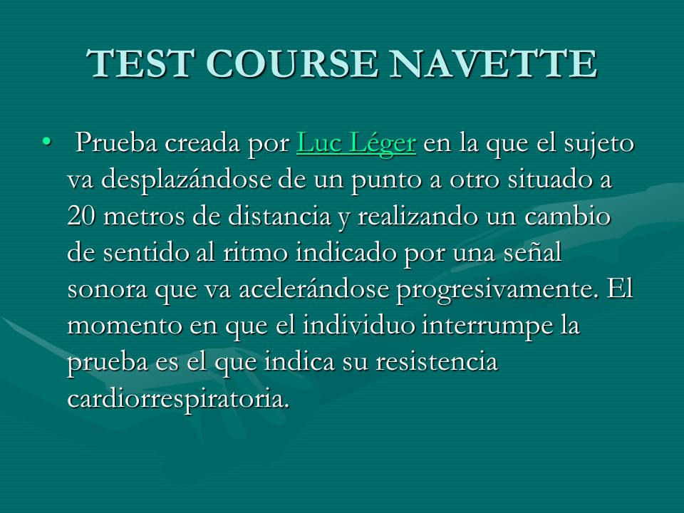 TEST COURSE NAVETTE