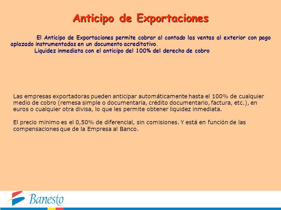 Anticipo de Exportaciones