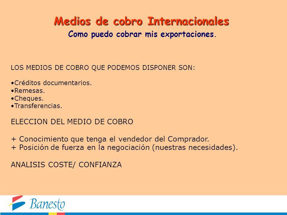 Medios de cobro Internacionales