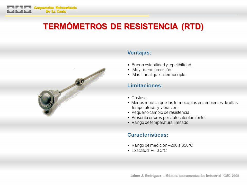 TERMÓMETROS DE RESISTENCIA (RTD)