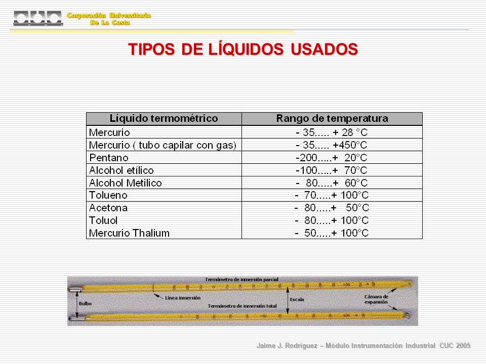 TIPOS DE LÍQUIDOS USADOS