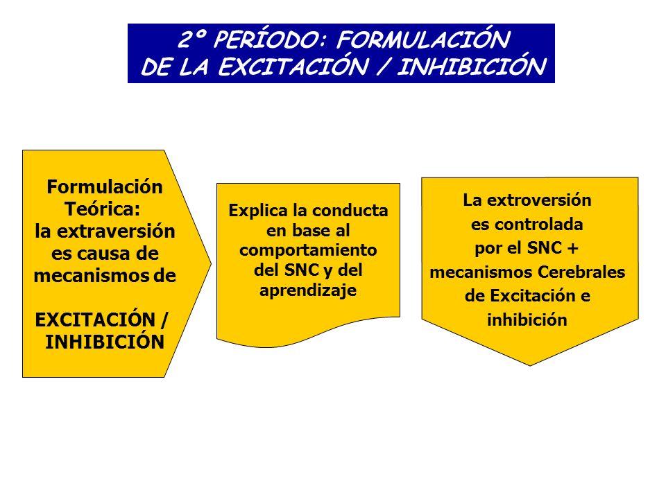 2º PERÍODO: FORMULACIÓN DE LA EXCITACIÓN / INHIBICIÓN