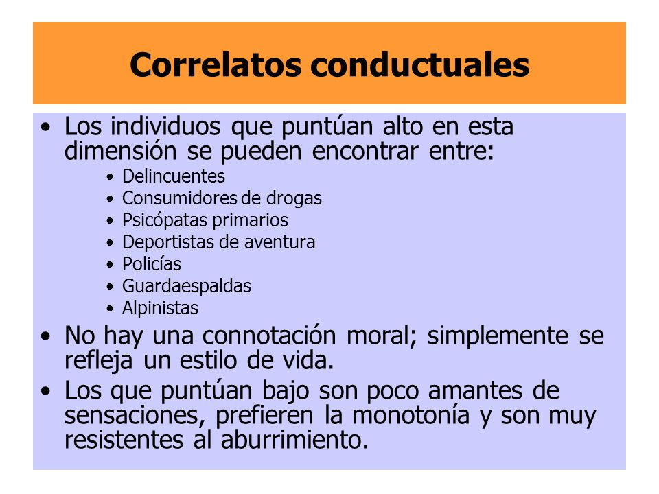 Correlatos conductuales