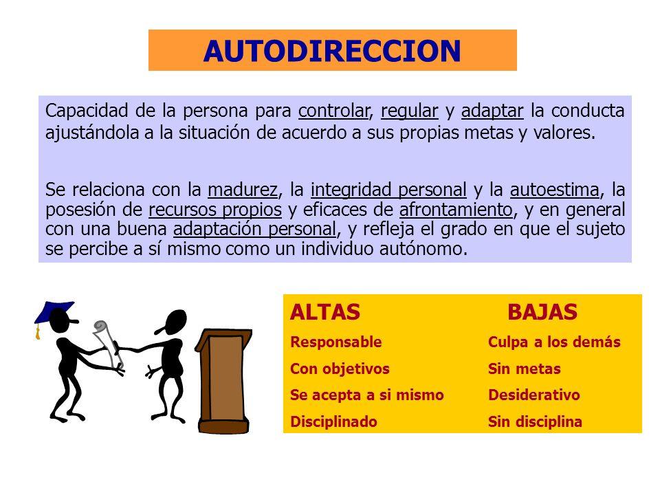 AUTODIRECCION ALTAS BAJAS