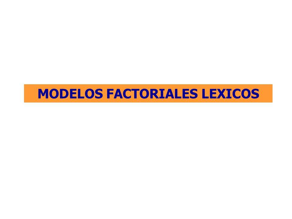 MODELOS FACTORIALES LEXICOS