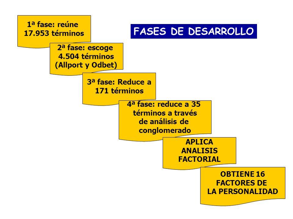FASES DE DESARROLLO 1ª fase: reúne 17.953 términos 2ª fase: escoge