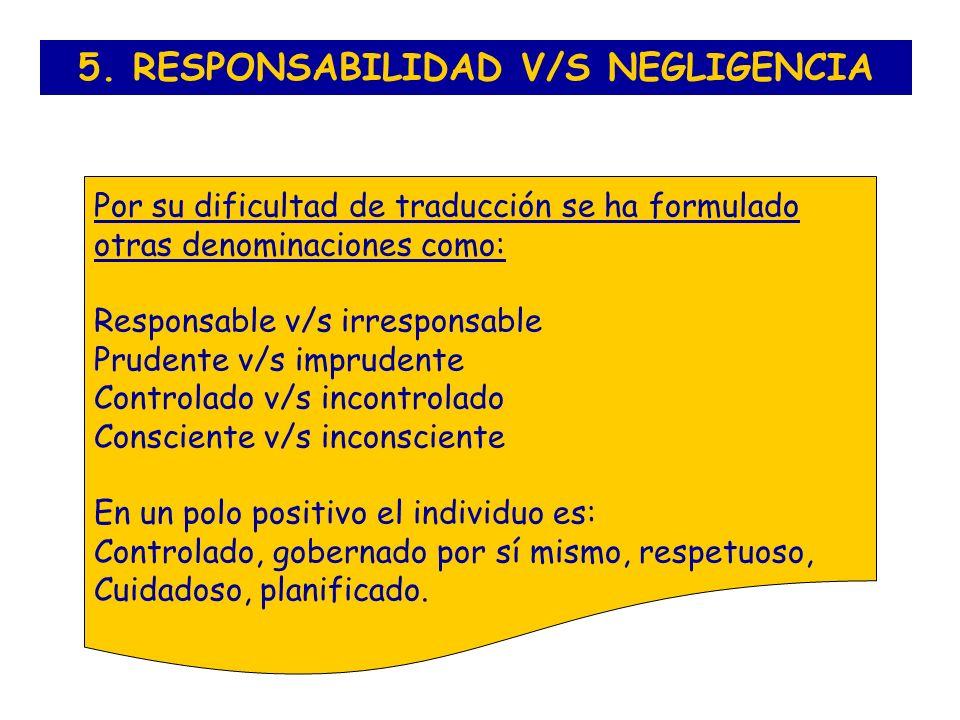 5. RESPONSABILIDAD V/S NEGLIGENCIA