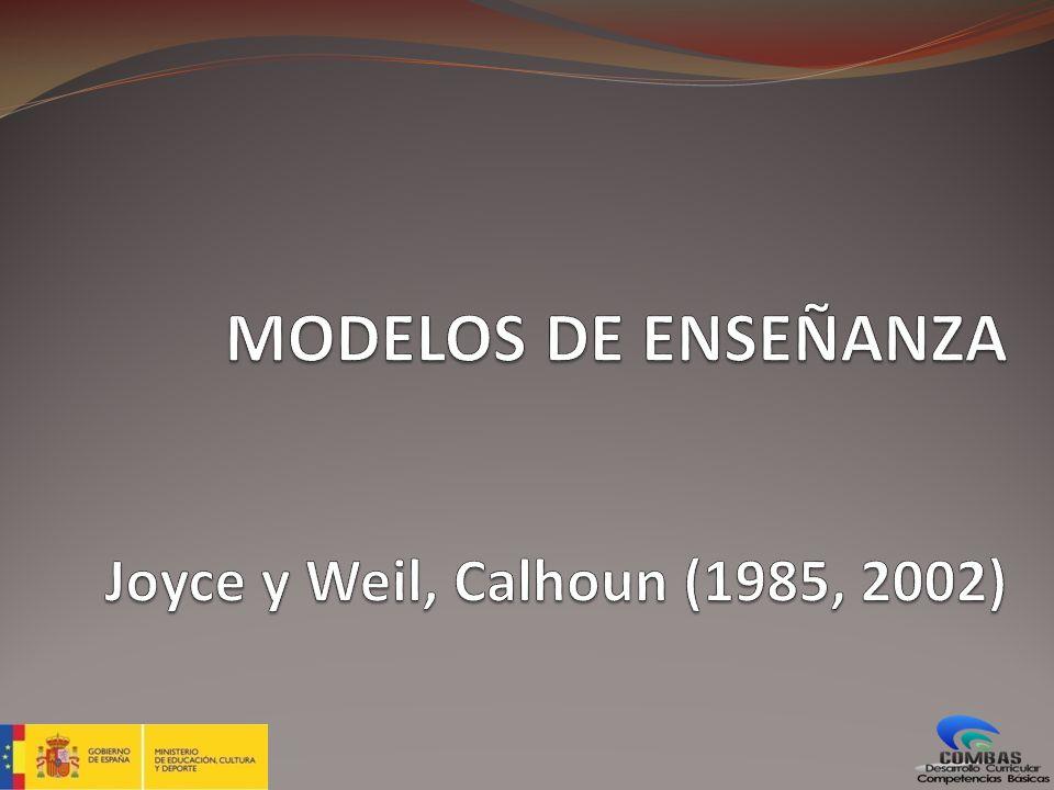 MODELOS DE ENSEÑANZA Joyce y Weil, Calhoun (1985, 2002)