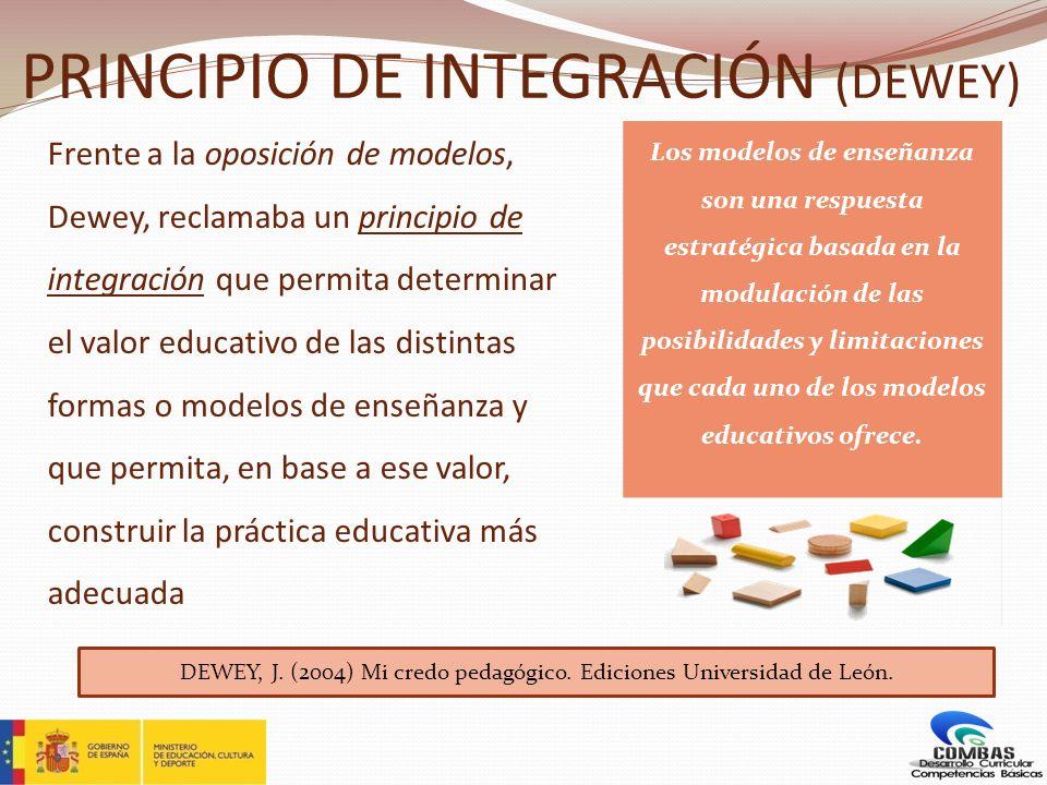PRINCIPIO DE INTEGRACIÓN (DEWEY)