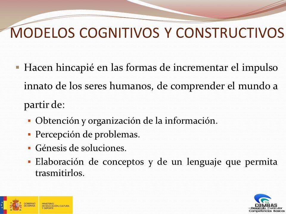 MODELOS COGNITIVOS Y CONSTRUCTIVOS