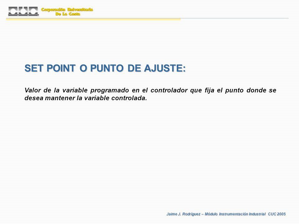 SET POINT O PUNTO DE AJUSTE: