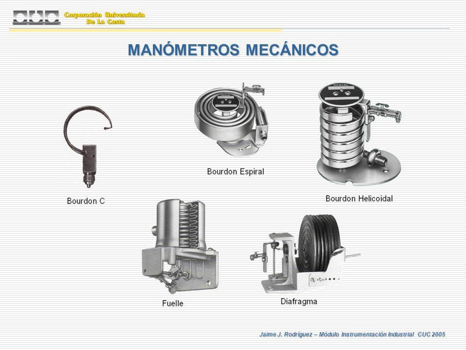 MANÓMETROS MECÁNICOS