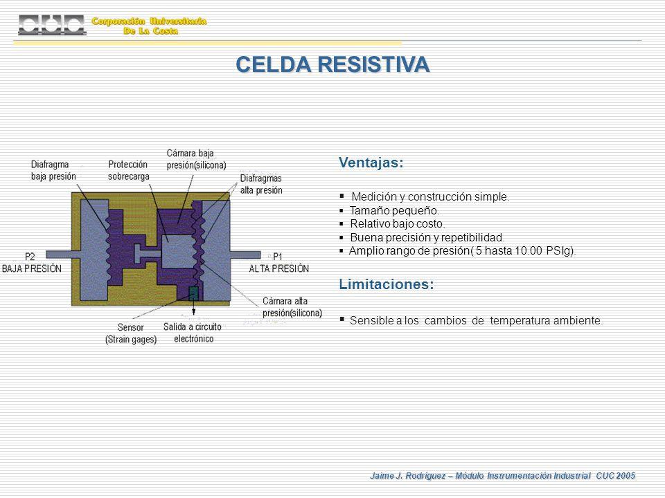 CELDA RESISTIVA Ventajas: Limitaciones: