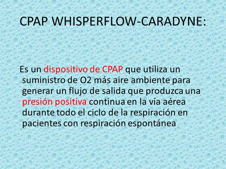 CPAP WHISPERFLOW-CARADYNE:
