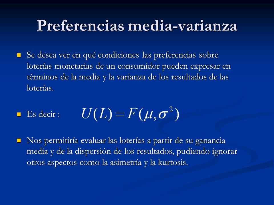 Preferencias media-varianza