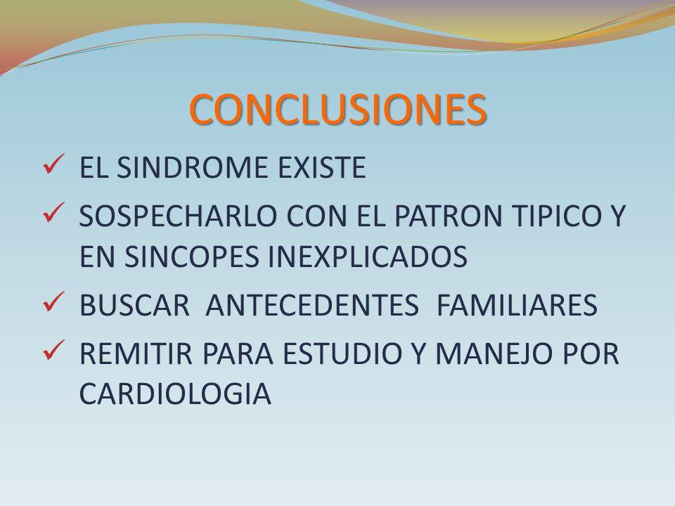 CONCLUSIONES EL SINDROME EXISTE