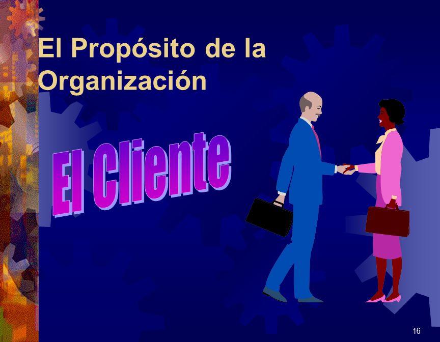 El Propósito de la Organización