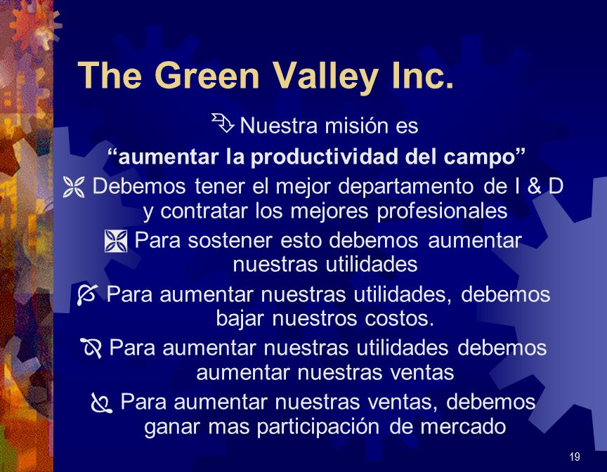 The Green Valley Inc. Nuestra misión es