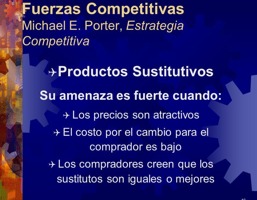 Fuerzas Competitivas Michael E. Porter, Estrategia Competitiva