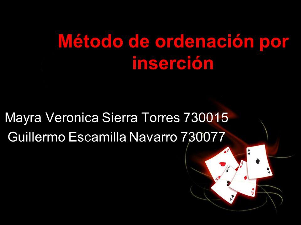 Método de ordenación por inserción
