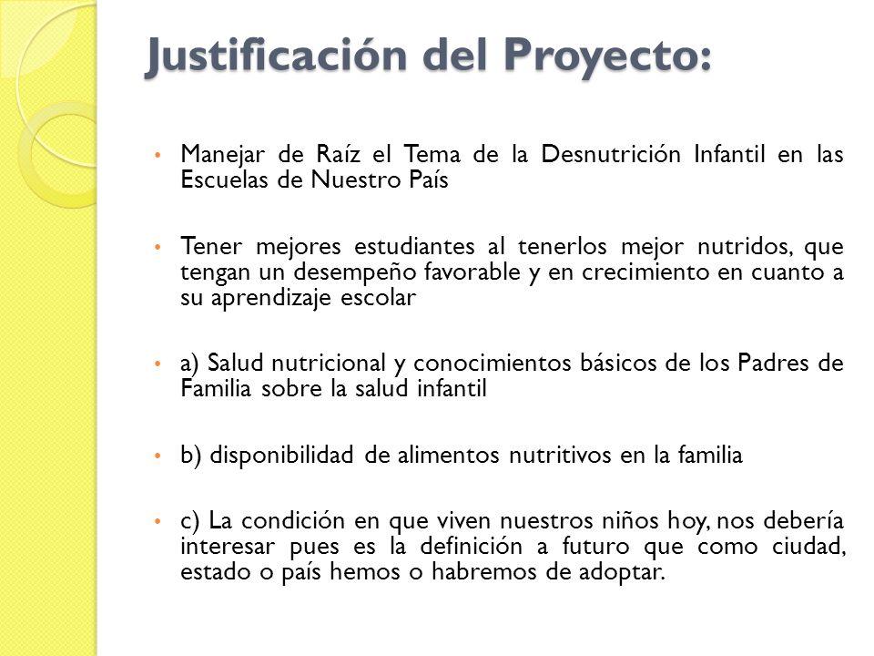 Justificación del Proyecto: