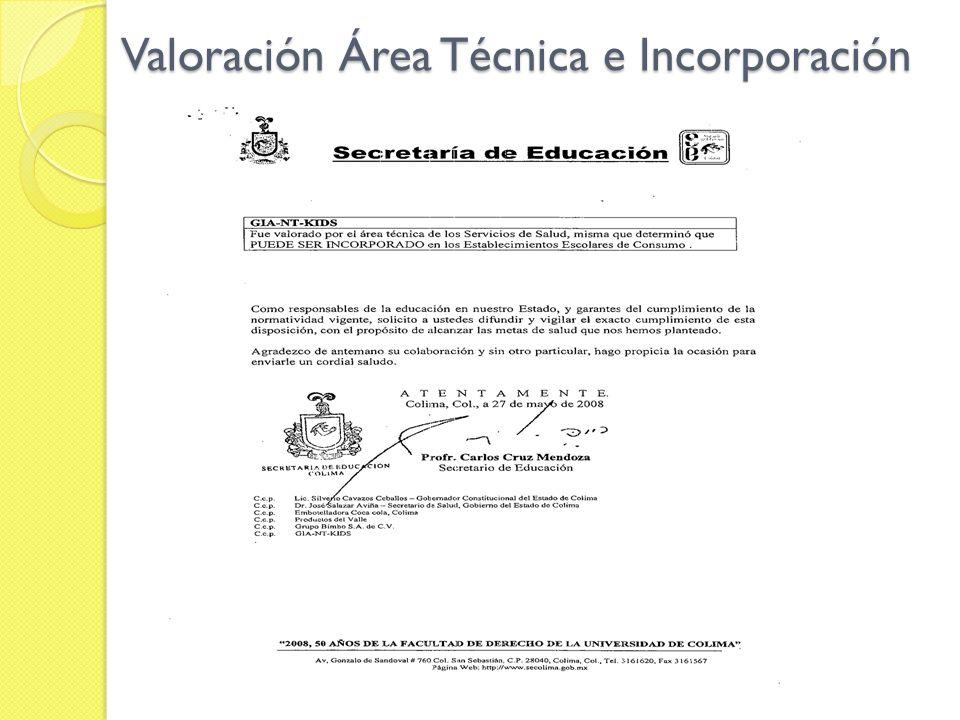 Valoración Área Técnica e Incorporación