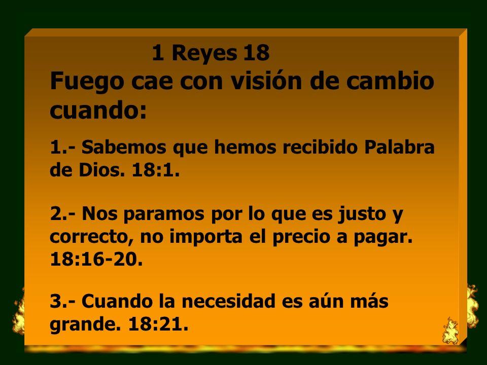 1 Reyes 18 Fuego cae con visión de cambio cuando: