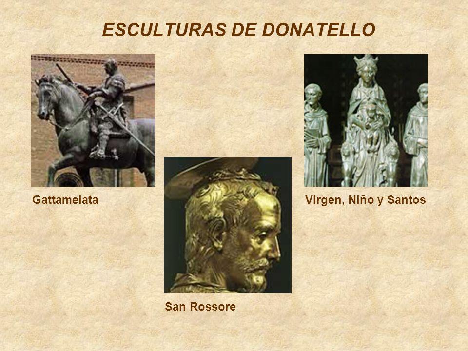 ESCULTURAS DE DONATELLO