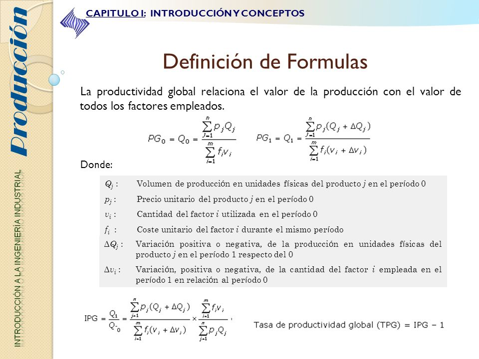 Definición de Formulas