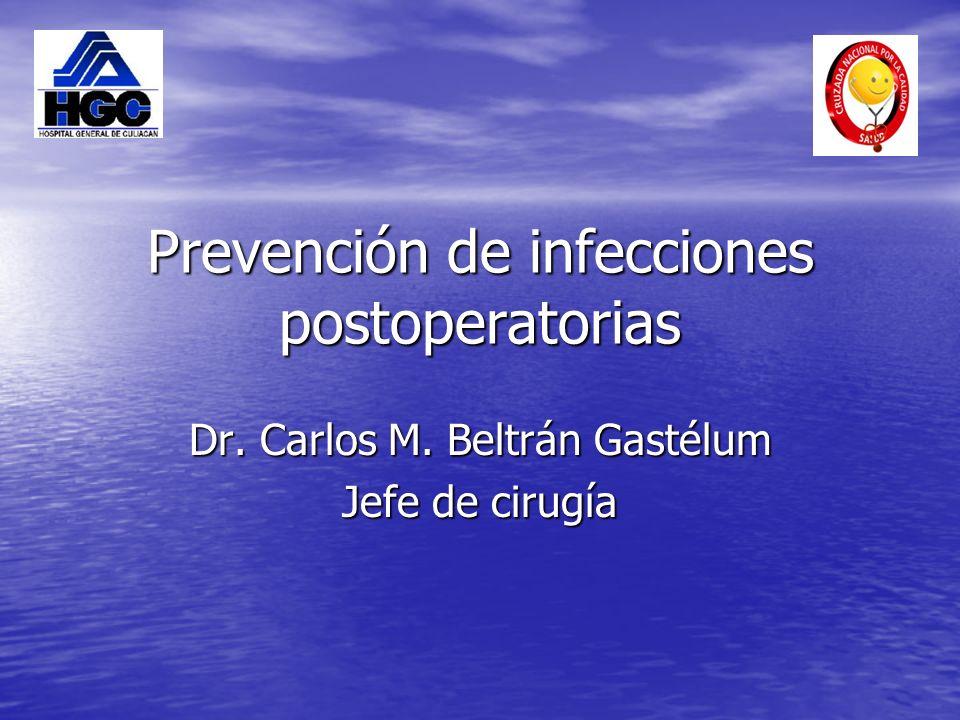 Prevención de infecciones postoperatorias