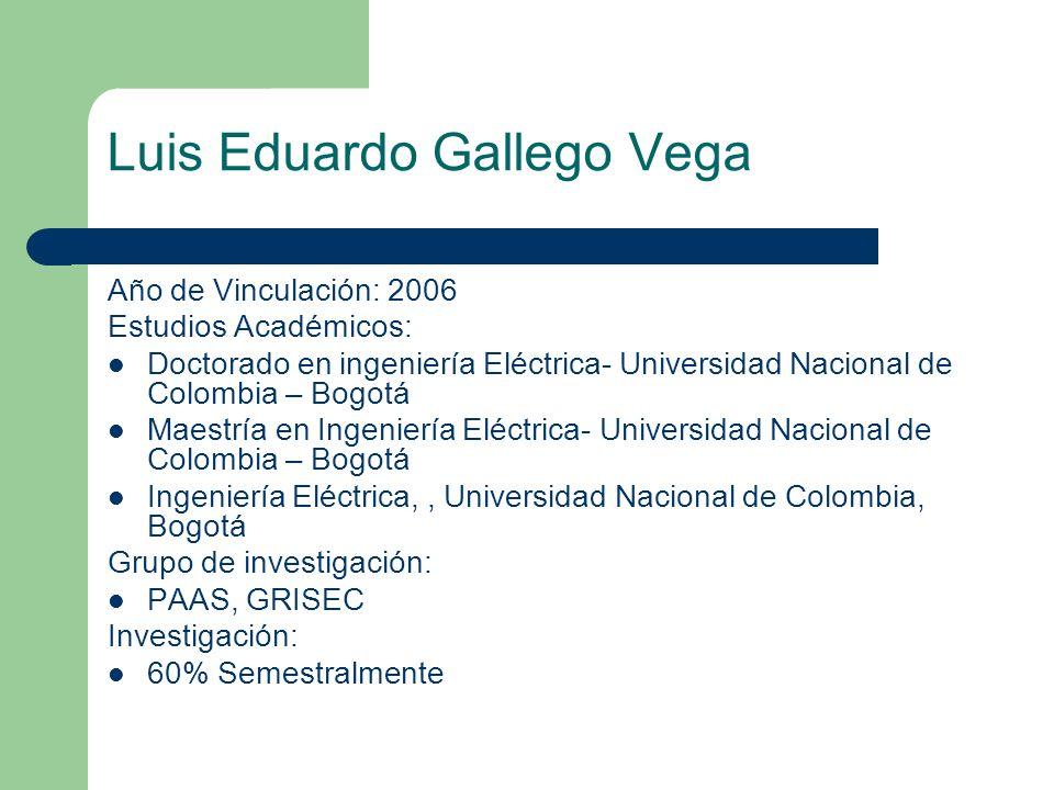 Luis Eduardo Gallego Vega