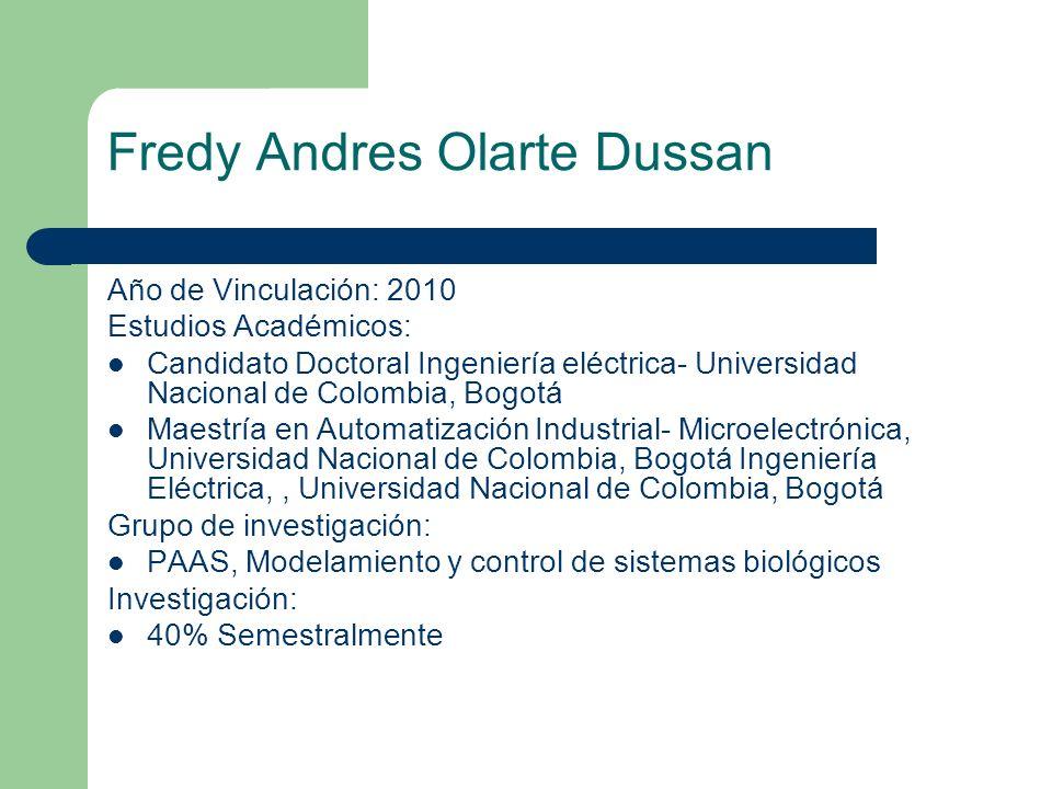 Fredy Andres Olarte Dussan