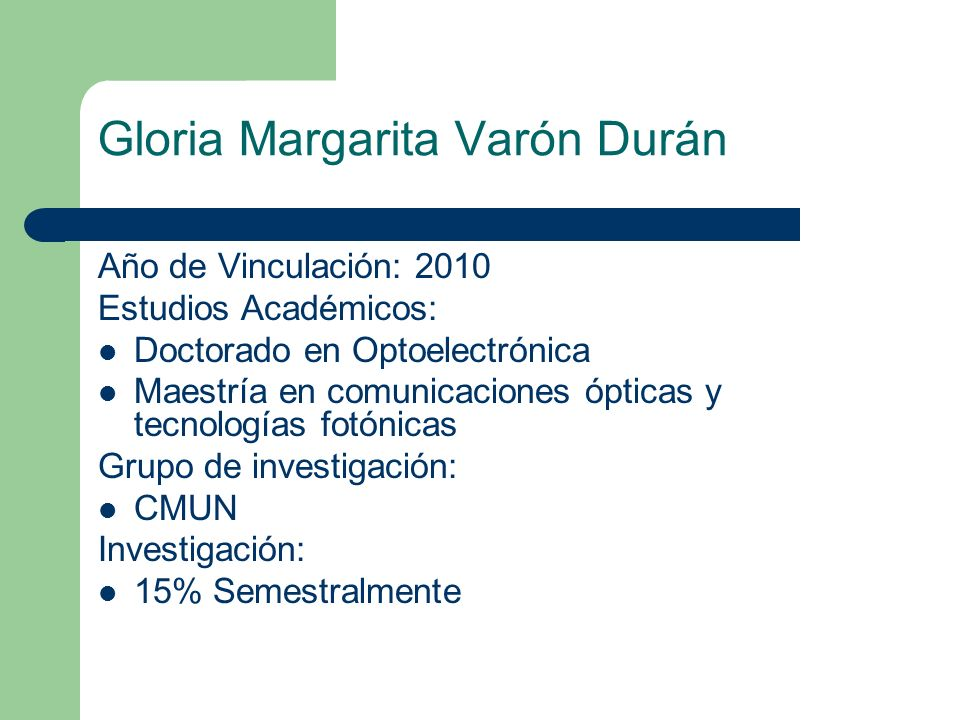 Gloria Margarita Varón Durán