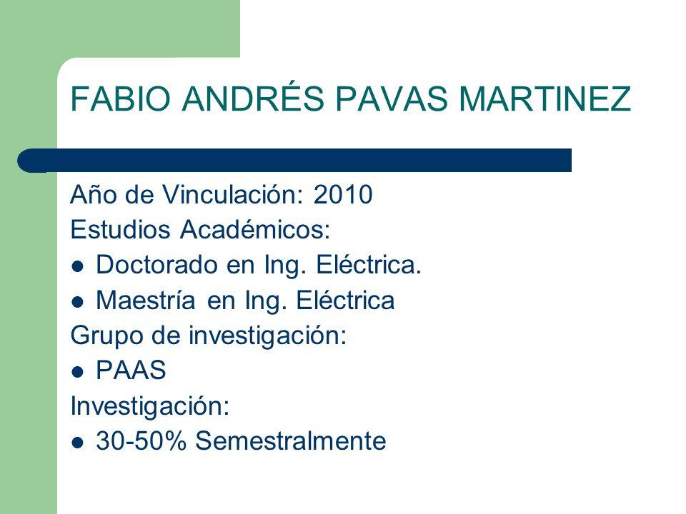 FABIO ANDRÉS PAVAS MARTINEZ