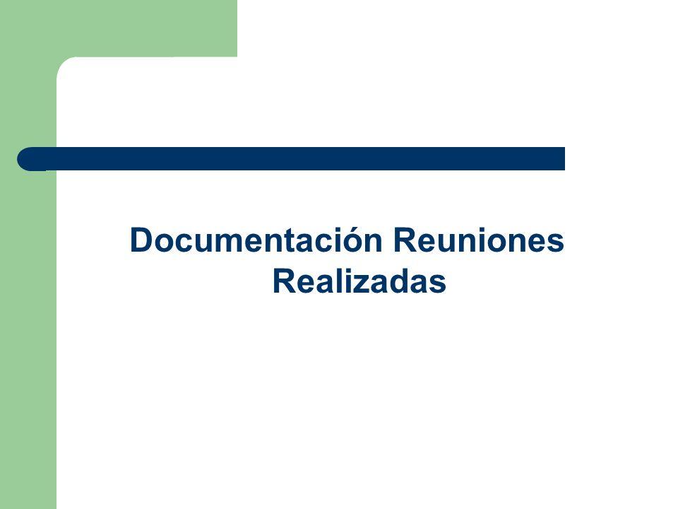 Documentación Reuniones Realizadas