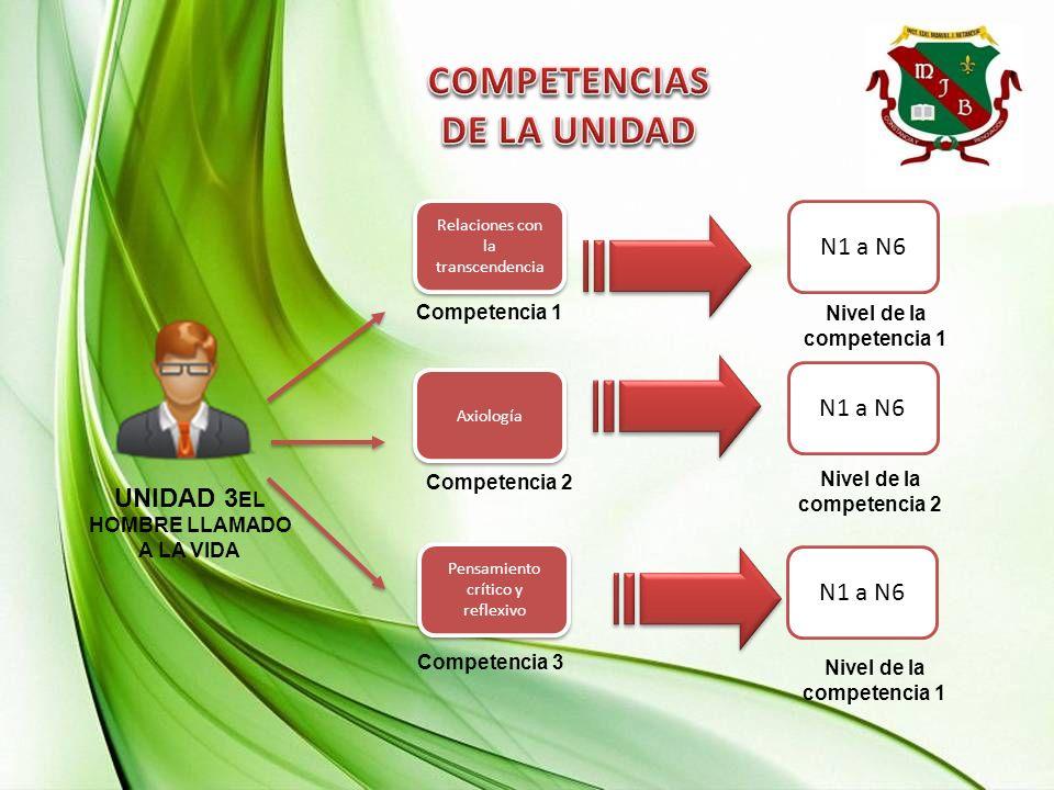 COMPETENCIAS DE LA UNIDAD