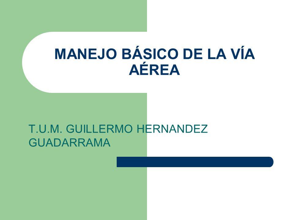 MANEJO BÁSICO DE LA VÍA AÉREA