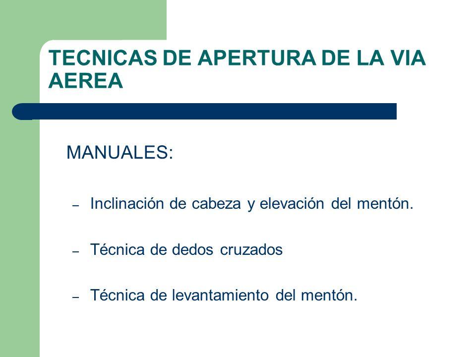 TECNICAS DE APERTURA DE LA VIA AEREA