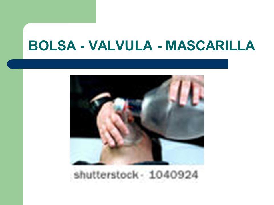 BOLSA - VALVULA - MASCARILLA