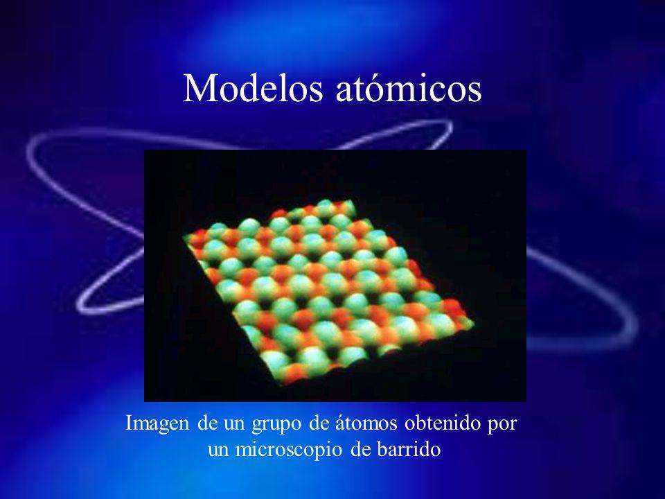 Modelos atómicos Imagen de un grupo de átomos obtenido por
