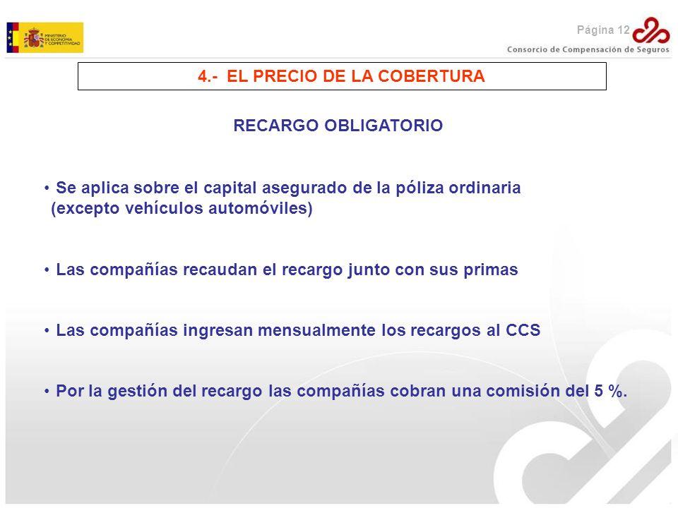 4.- EL PRECIO DE LA COBERTURA