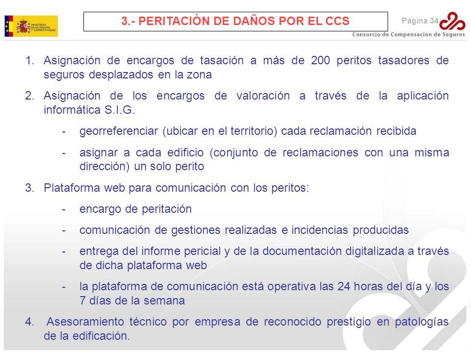 3.- PERITACIÓN DE DAÑOS POR EL CCS