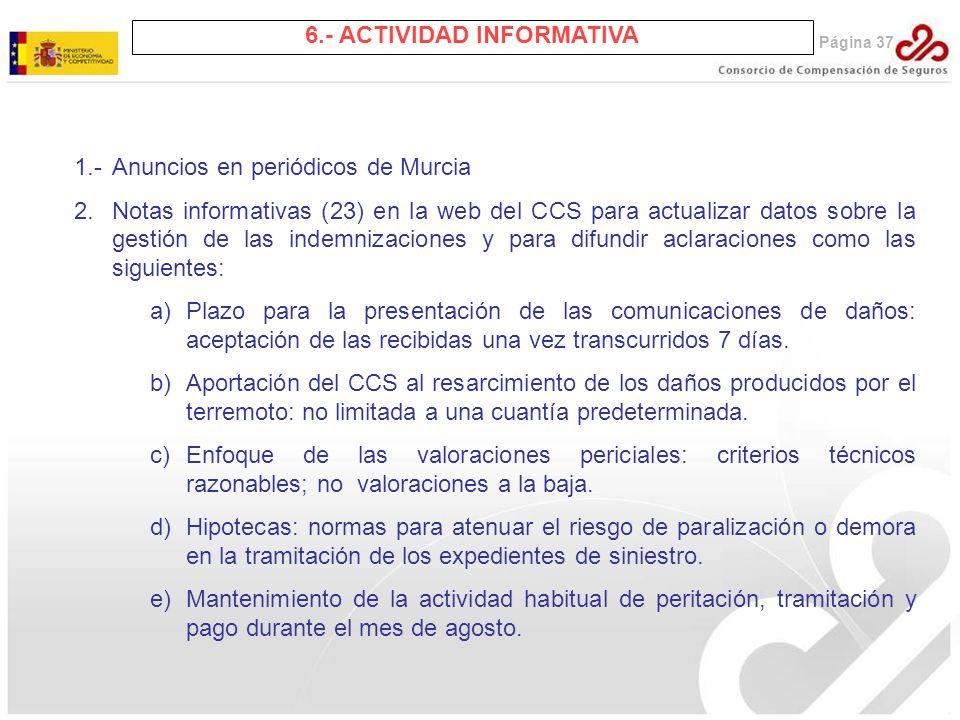 6.- ACTIVIDAD INFORMATIVA