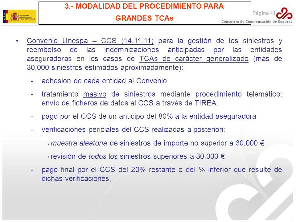 3.- MODALIDAD DEL PROCEDIMIENTO PARA