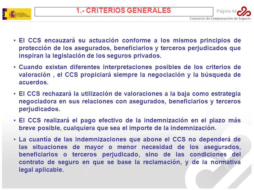 1.- CRITERIOS GENERALES Página 44.