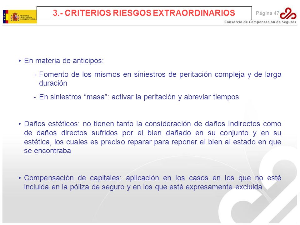 3.- CRITERIOS RIESGOS EXTRAORDINARIOS