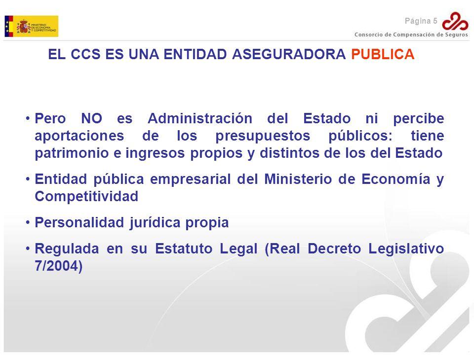 EL CCS ES UNA ENTIDAD ASEGURADORA PUBLICA